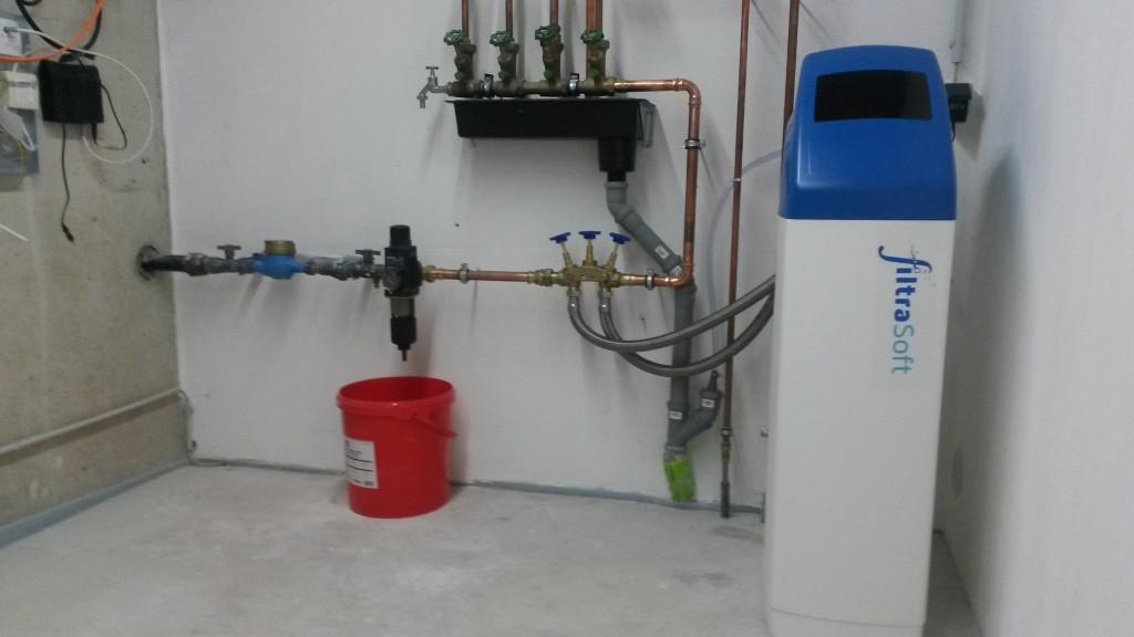 Wasserenthärter Einbau